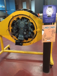 The engine for Lindbergh's Spirit of St. Louis built by Wright Aeronautical in Paterson
