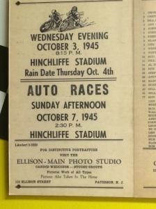 Hincliffe Stadium Auto Races