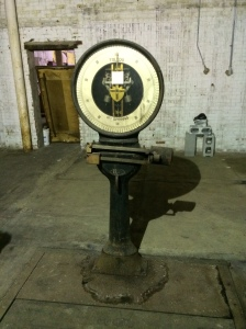 Is this an art installation? NO! It's a scale from Rogers Works at 70 Spruce St.