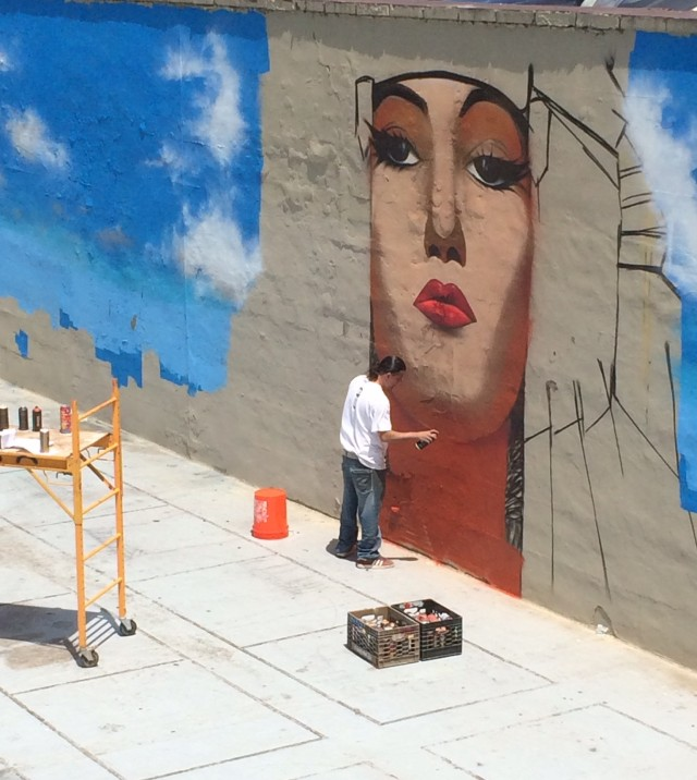 Live Painting of mural at Overlook Park, part of Great Falls National Historical Park