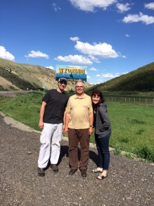 Coming into Wyoming with my son Kevin and daughter Juli.