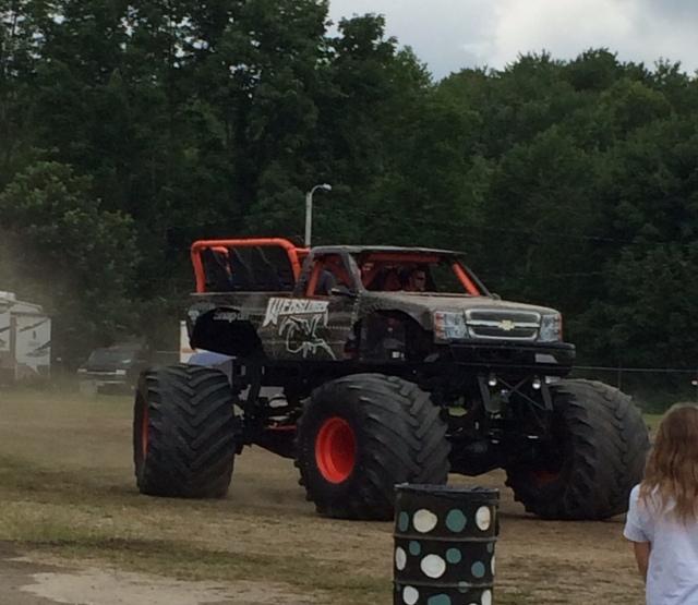The monster truck ride