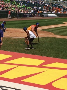 What is minor league baseball without a dizzy bat race?