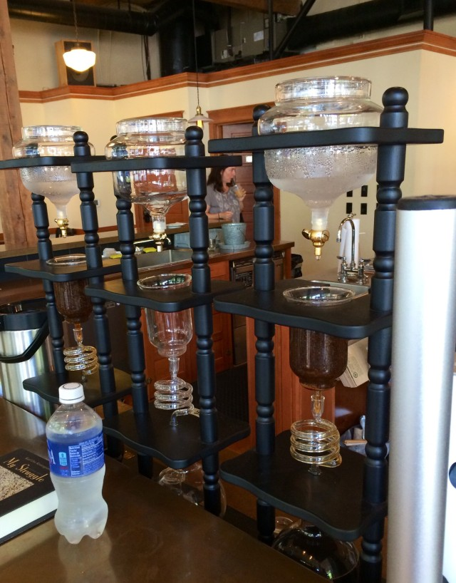 The drip pots at Case Study Coffee.
