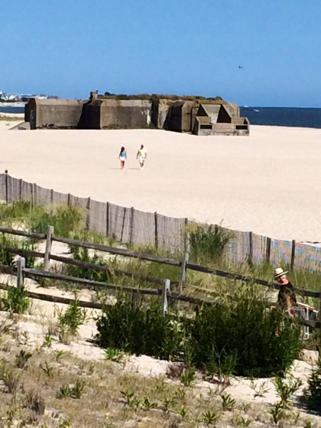 World War II army bunker built in 1942 as part of Harbor Defense Project. In Cape May Point State Park