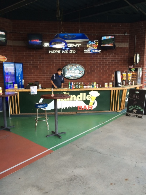 A nice bar with a large beer selection is not all that common in minor league parks.