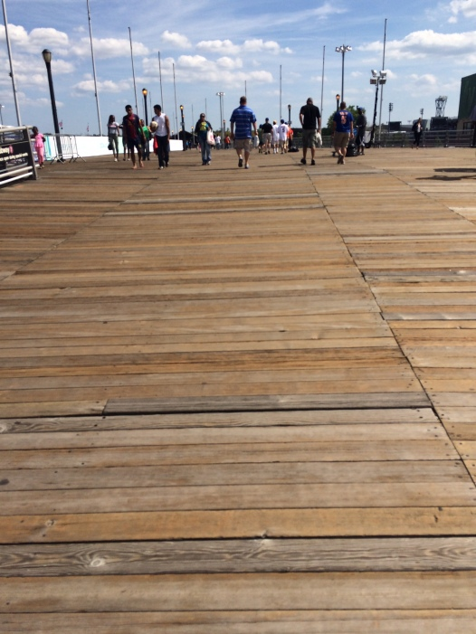 The boardwalk that was originally built to connect Shea Stadium and the World's Fair, now connects Citi Field and the National Tennis Center.