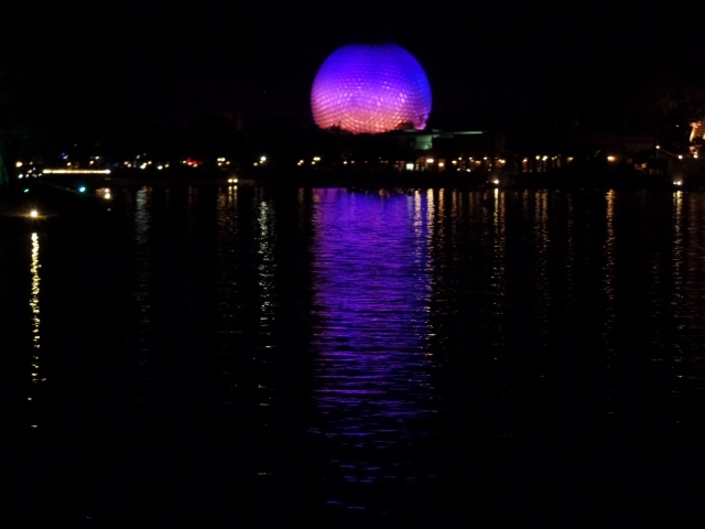 Epcot at night, my favorite part of Disney World