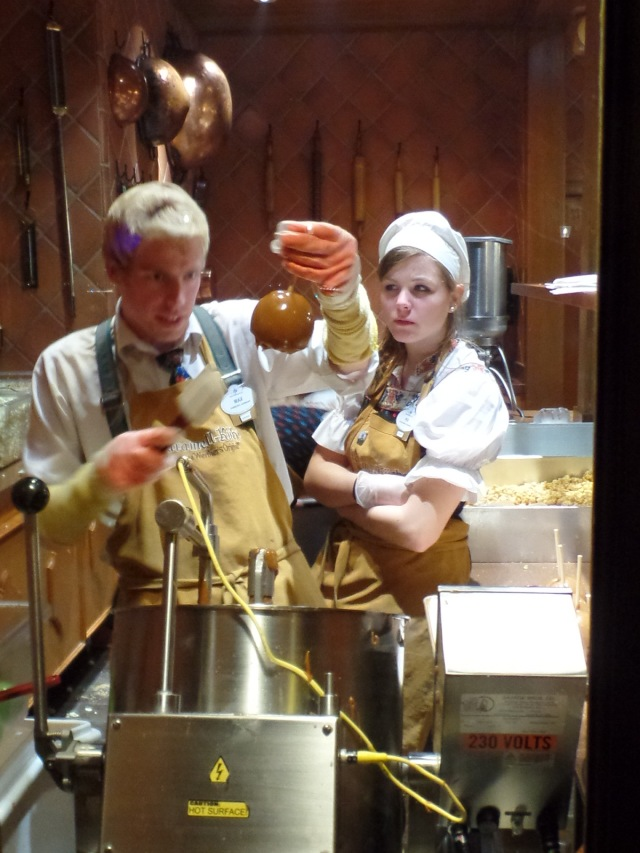 But that is a real caramel apple and the guy making it is indeed German