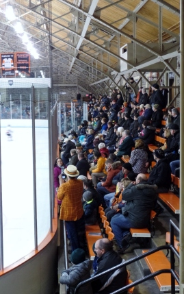 Spectators at Baker Rink Princeton hockey game