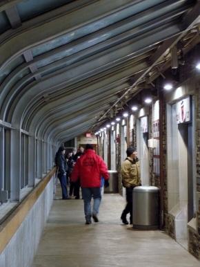 Corridor at Baker Rink, Princeton University