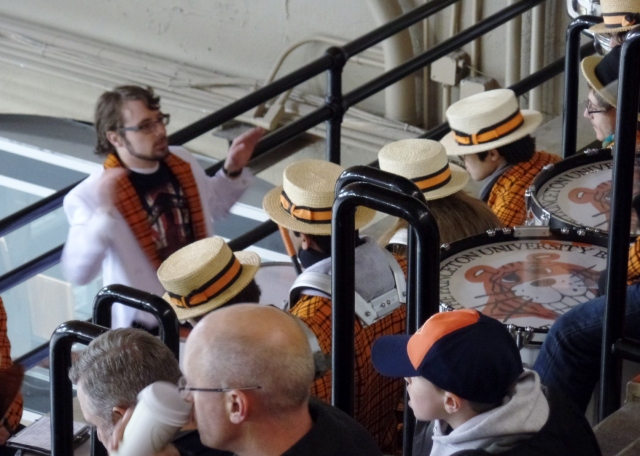 Princeton band at hockey game