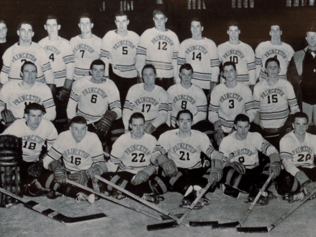Vintage photo of Princeton hockey team
