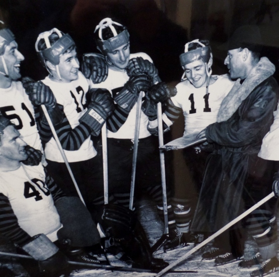 Vintage photo of Princeton hockey team