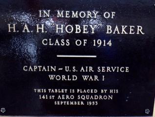 Hobie Baker Plaque