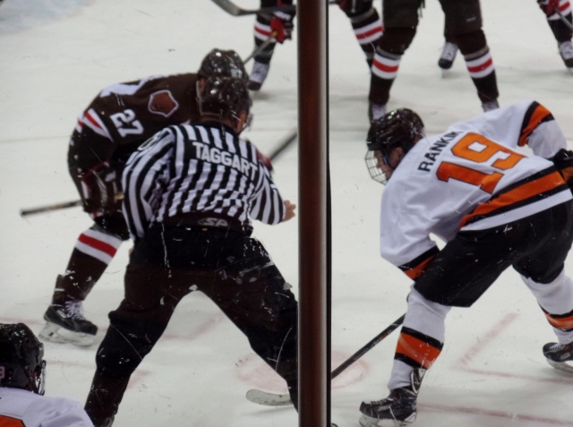 Face off, Princeton vs. Brown