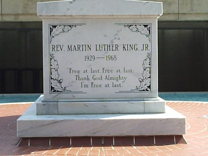 Martin Luther King gravestone