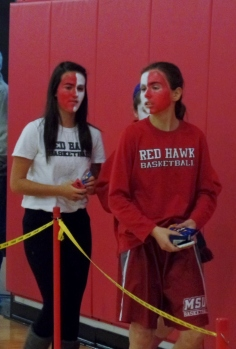 Montclair State Red Hawk fans with painted faces