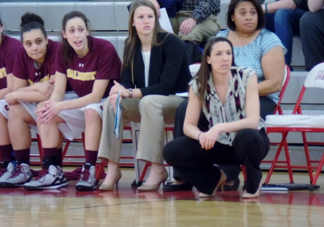 Salisbury University coach watching game