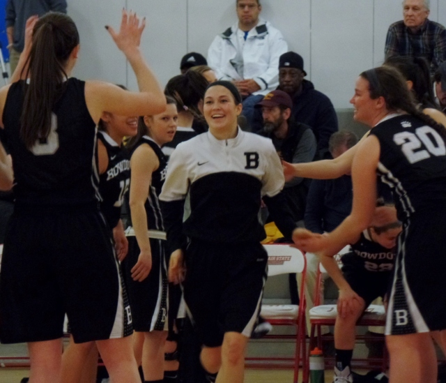 Bowdoin players take the court