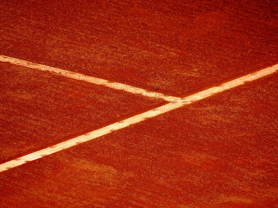 Red dirt tennis court