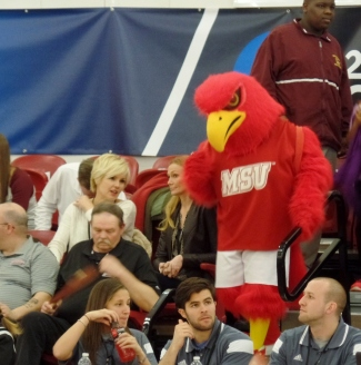 Montclair State Unversity mascot the Red Hawk