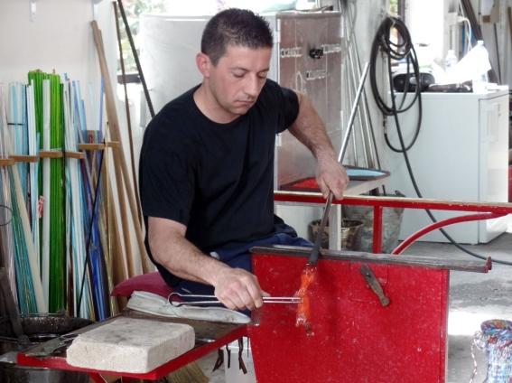 Making glass at Bisanzio