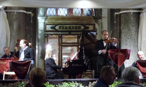Musicians at teh Caffe Florian
