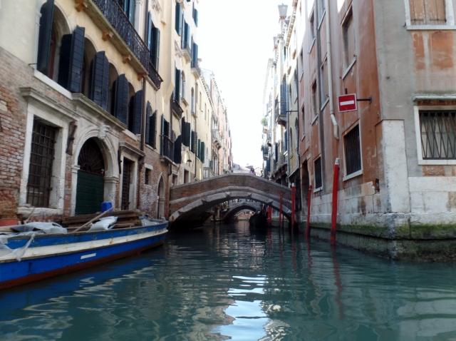 A bridge over a Venice canal.