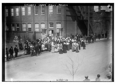 Mill workers on strike