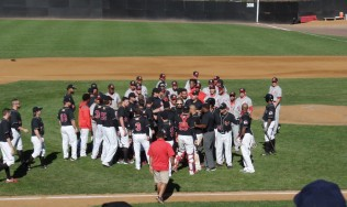 The benches clear