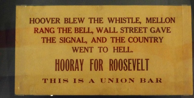 FDR's union backers
