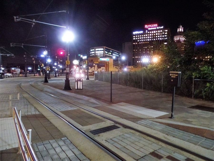 Newark light rail track