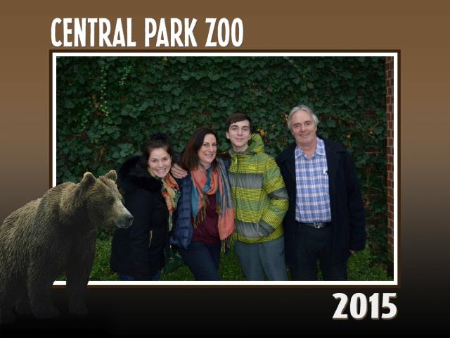 Family photo Central Park Zoo