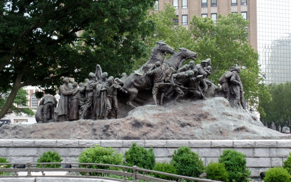 Military Park statue