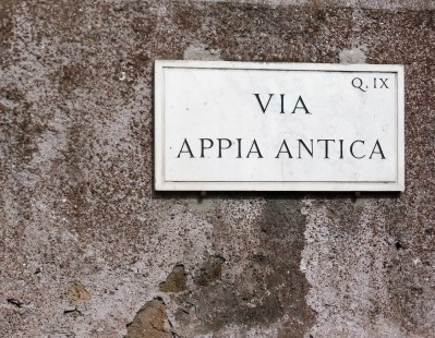 Appian Way sign