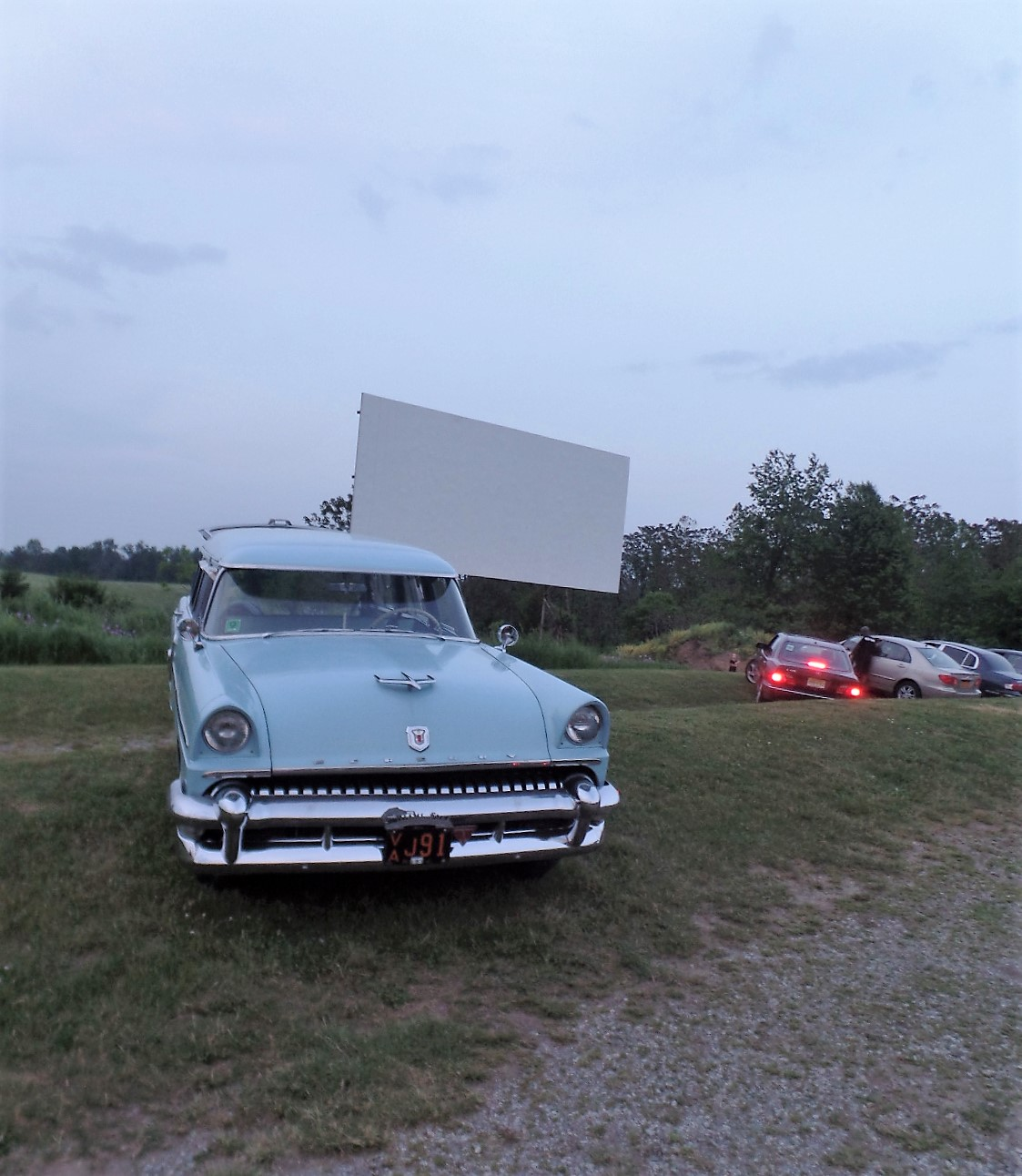 Car at drive-in.