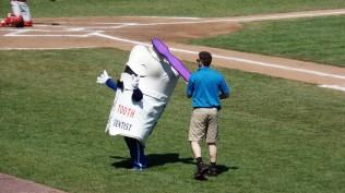 The dentist is a baseball fan