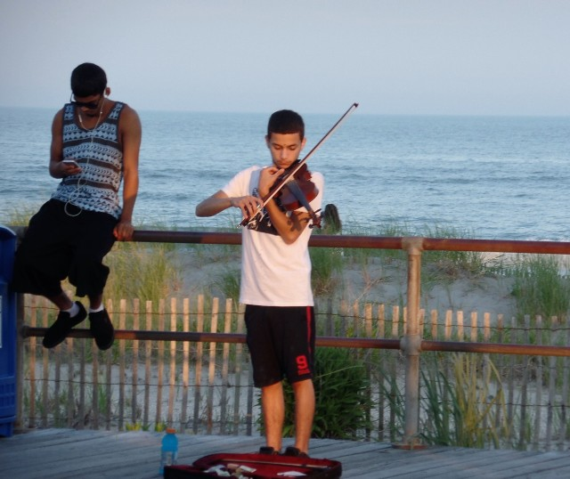Music on the Ocean City boardwalk