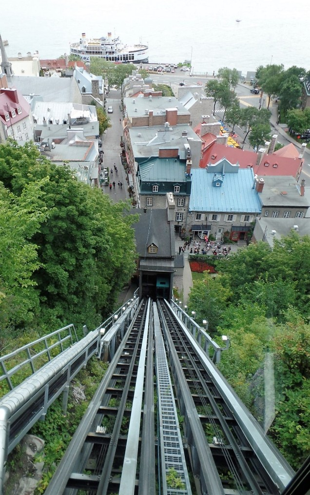 View of Place-Royale from the funicular