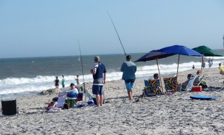 Fishing in the surf
