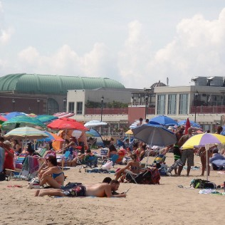 On the beach in Asbury Park