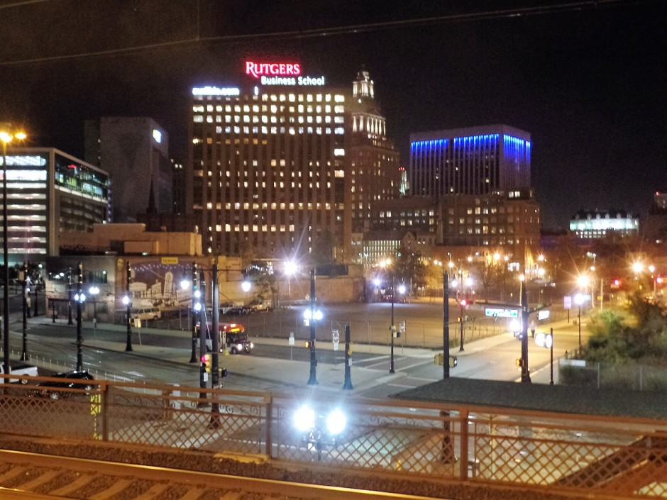 nighttime in Newark