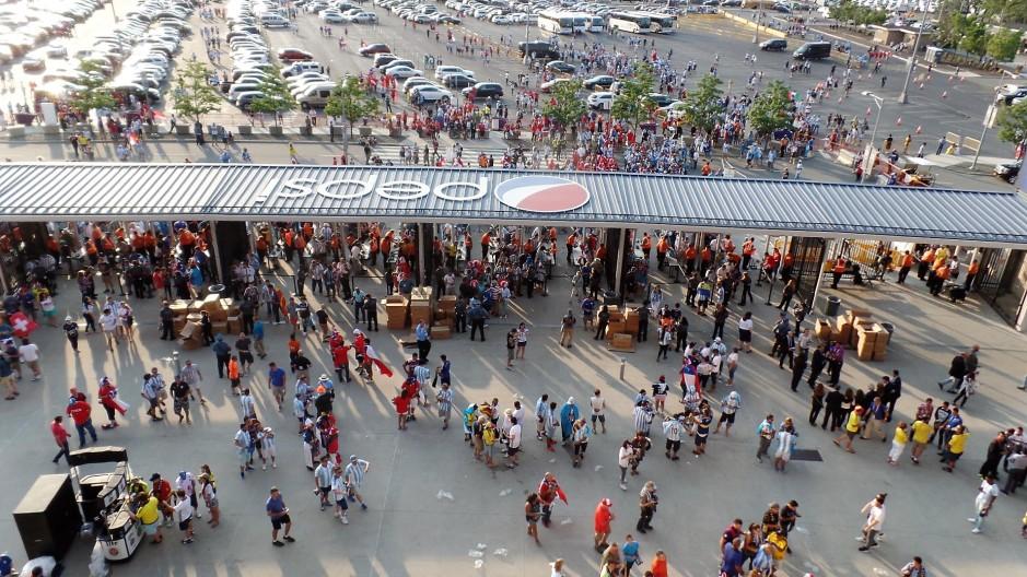 Entering MetLife Stadium