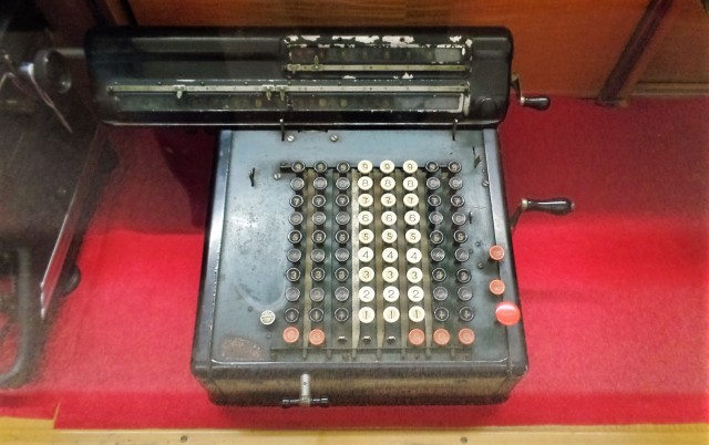 Butler Museum adding machine
