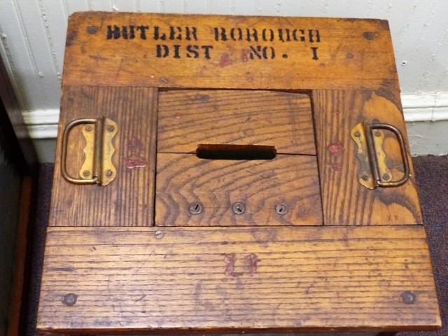 Borough of Butler ballot box