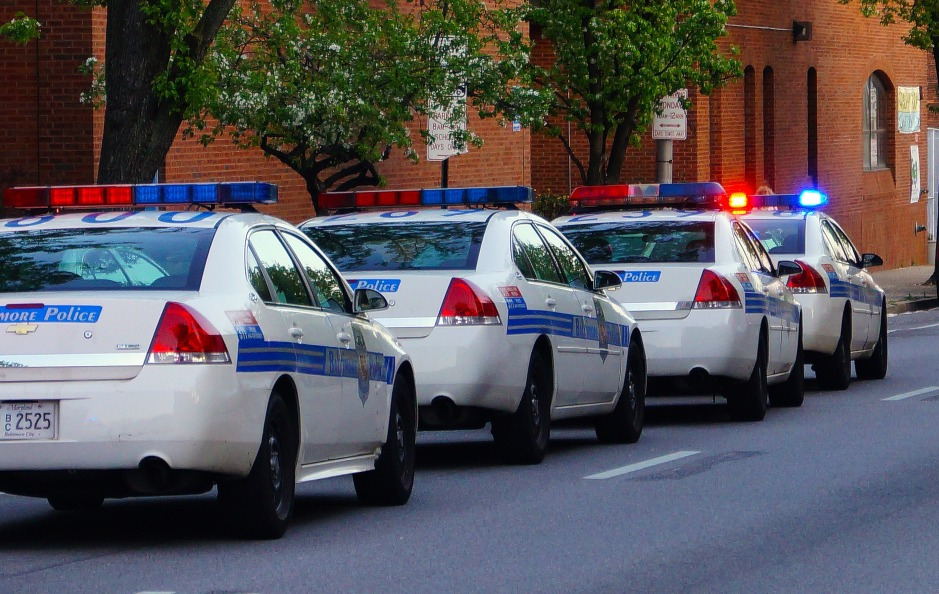 Baltimore police cars
