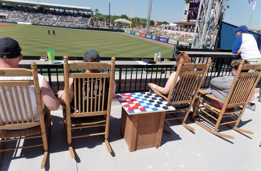 Checker board at Tigers game