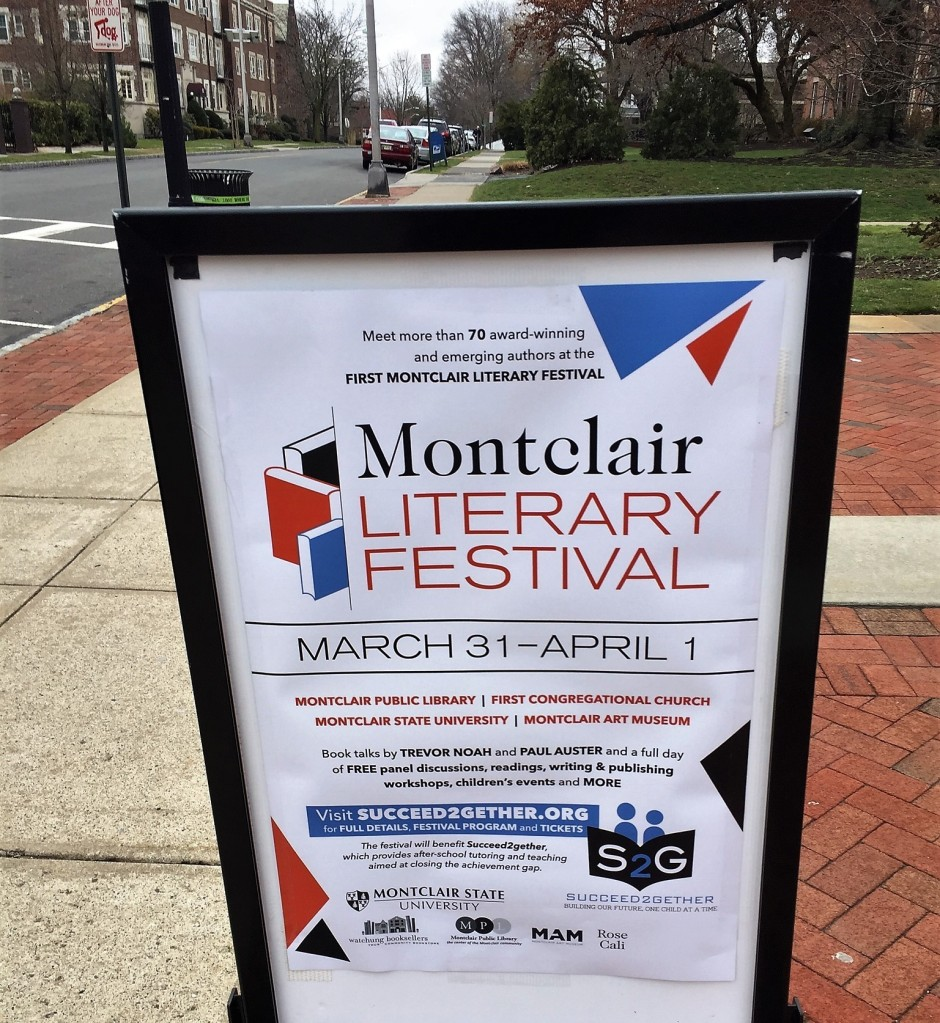 Sign outside Montclair Public Library