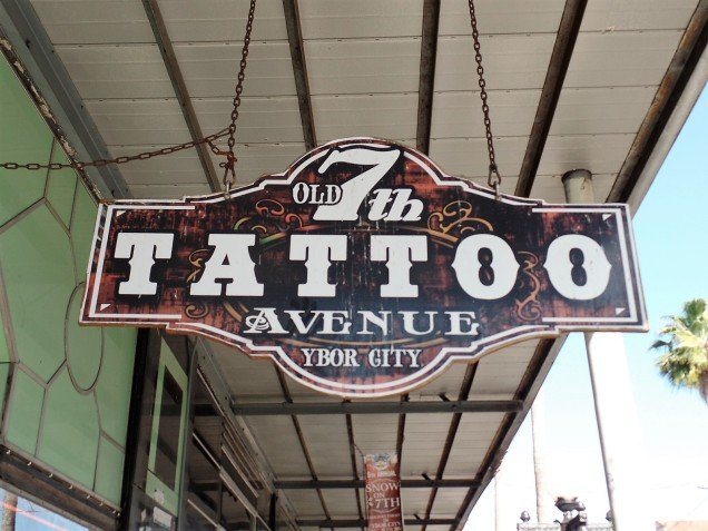 Tattoo parlor in Ybor